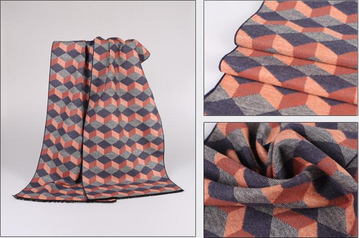菱形网格围巾织法图解