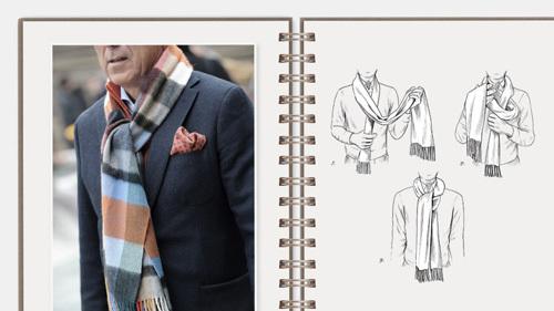 男士围巾的系法,男士围巾的系法图解