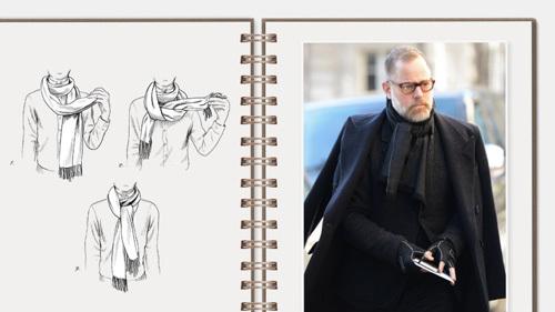男士围巾的各种围法,男士围巾系法