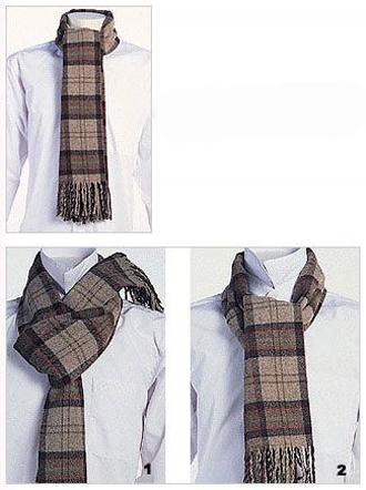 男士围巾的系法图解,男士围巾围法图解