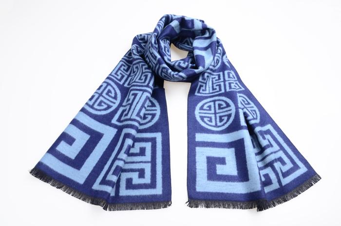 男士围巾 真丝围巾 提花围巾