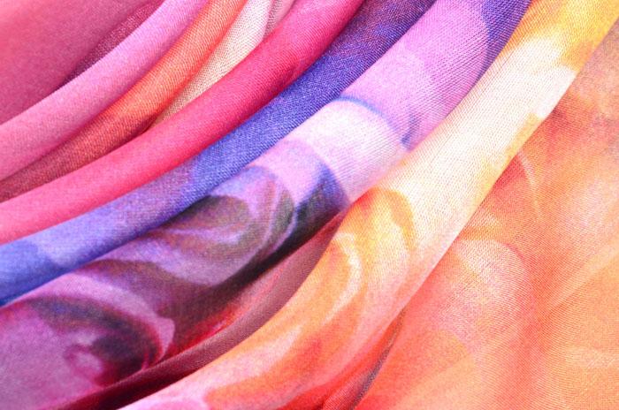 雪纺丝巾细节图