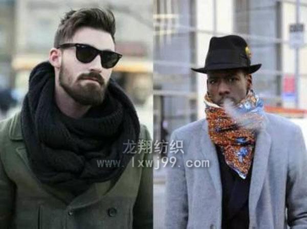 男士围巾的特别围法图解