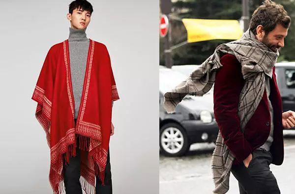 男士圍巾多種款式介紹圖片