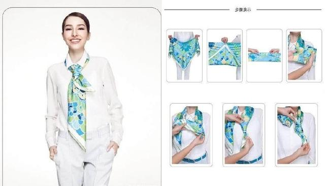 丝巾围法十、丝巾也可以很帅气