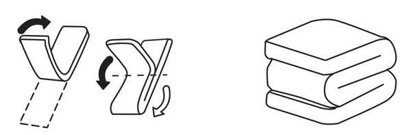 纵向对折,再往返折成M型