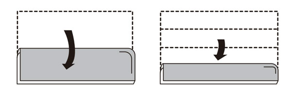 将洗涤物按照如下方法折成4折