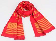 """龙翔纺织为""""美国华裔支持川普联盟""""特别定制红色围巾"""