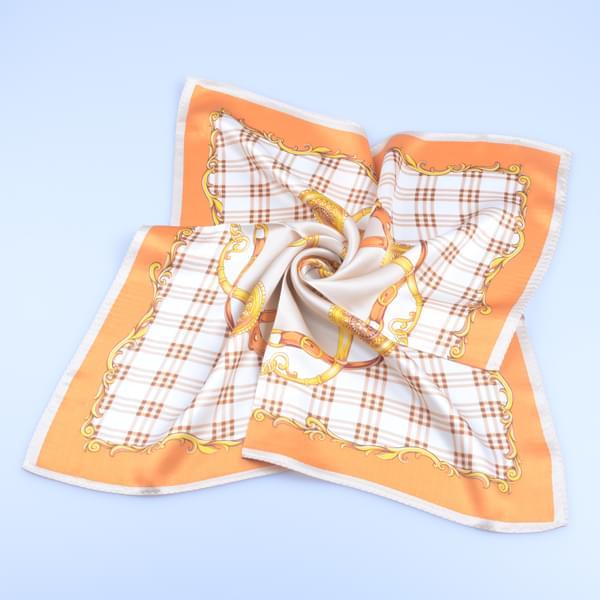 高档素绉缎围巾