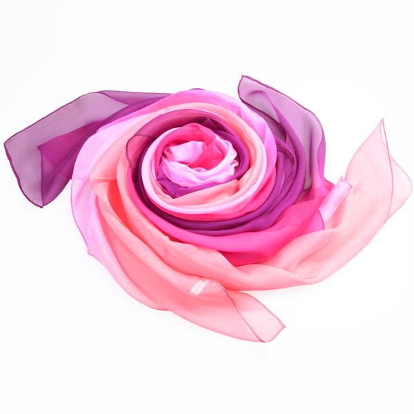纯色女士丝巾