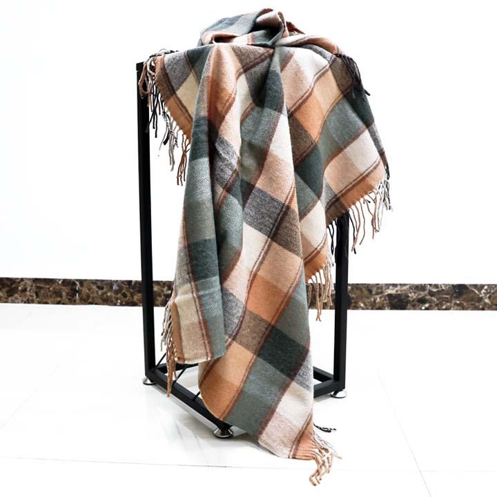 格子羊毛毯