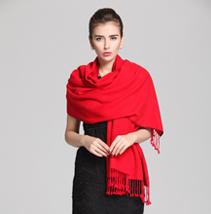 红色竹纤维披肩