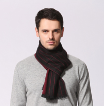秋冬拉绒围巾