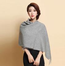 素色羊绒披肩