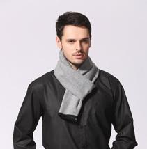 男士灰色围巾
