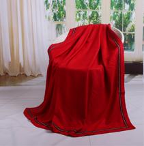 红色真丝毯子