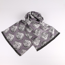玫瑰花提花围巾