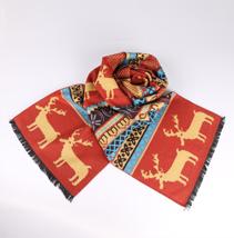 圣诞节小鹿围巾
