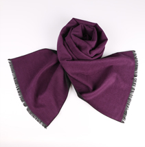 秋冬紫色围巾