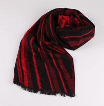 红色条纹围巾