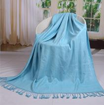 纯色竹纤维毯子