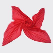 红色羊毛披肩