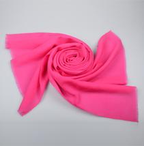 粉色羊毛披肩