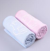 儿童提花棉毯