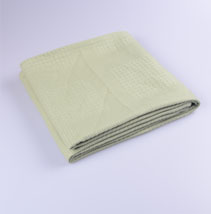 素色纯棉盖毯