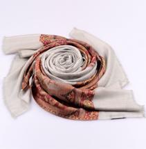 腰果花羊绒围巾