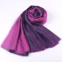 双层素色羊绒围巾