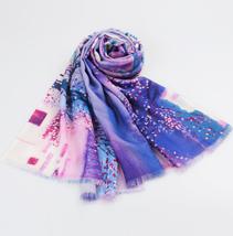 羊毛喷绘围巾