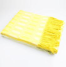菱形格休闲毯