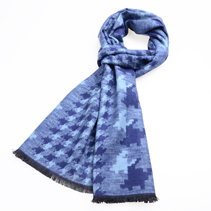 秋冬提花围巾