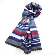 秋冬男士条纹围巾