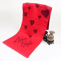爱心款红色围巾