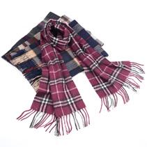 新款男士格子羊毛围巾