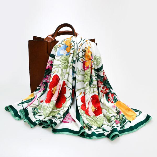 繁花似锦丝巾