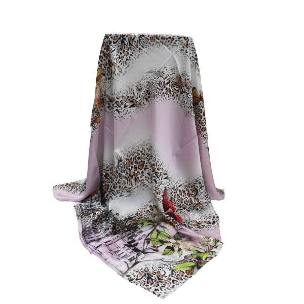 经典豹纹丝巾