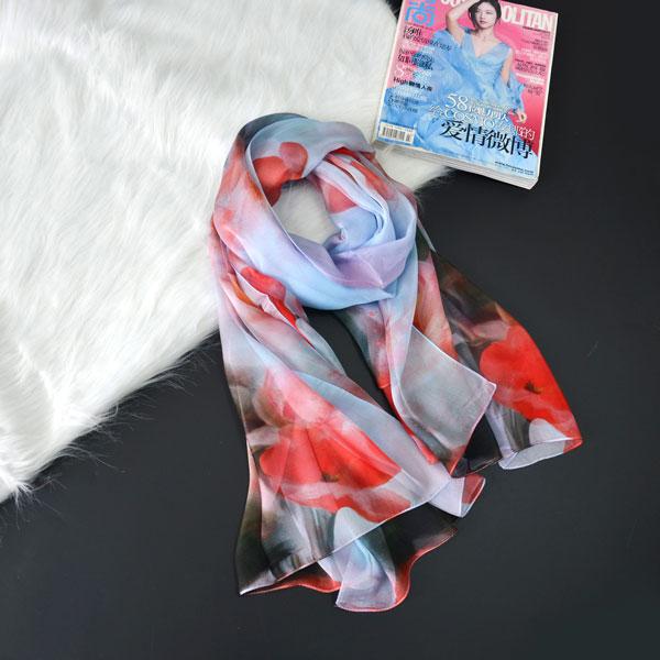 荷塘月色丝巾