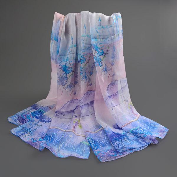 梦幻城堡丝巾