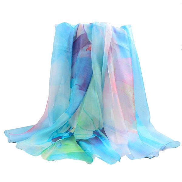出水芙蓉丝巾