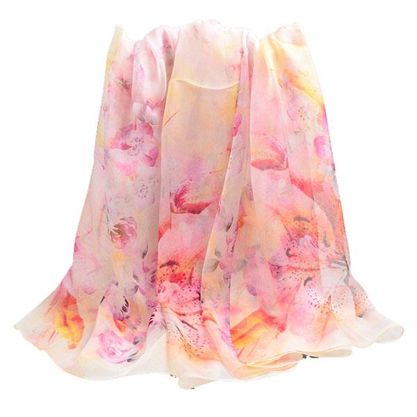 花团锦簇丝巾