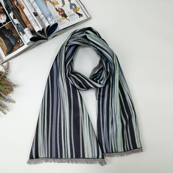 男士简约线条围巾