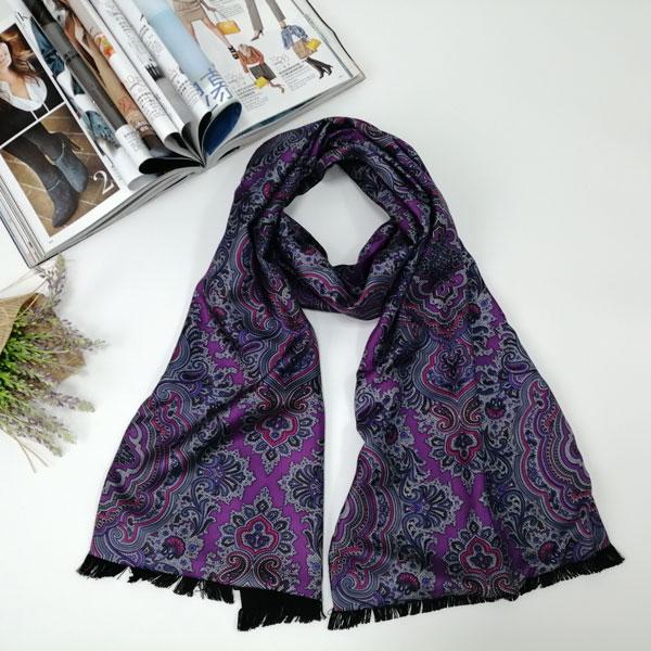 男士紫色迷情围巾